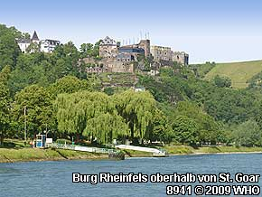 Burg Rheinfels oberhalb von St. Goar am Rhein